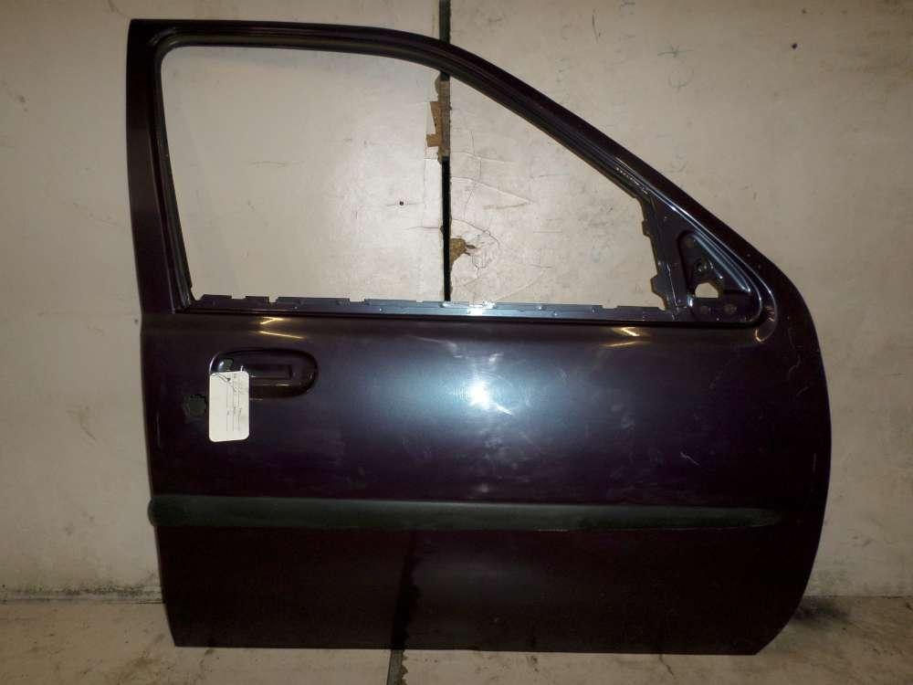 Ford Fiesta IV 4Türer Bj.1997 1999 Tür vorne rechts Beifahrertür braun rot
