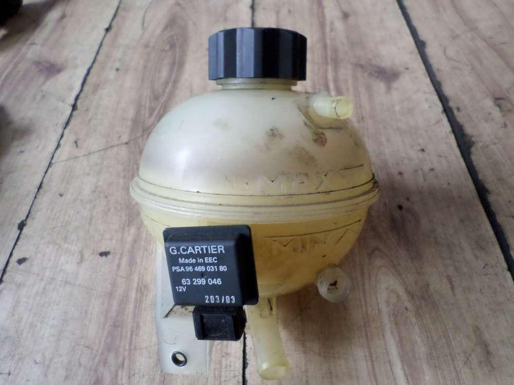 Peugeot 307 Bj 2004 Kühlwasserbehälter Wasserbehälter mit Sensor für Kühlmittelstand 63299046