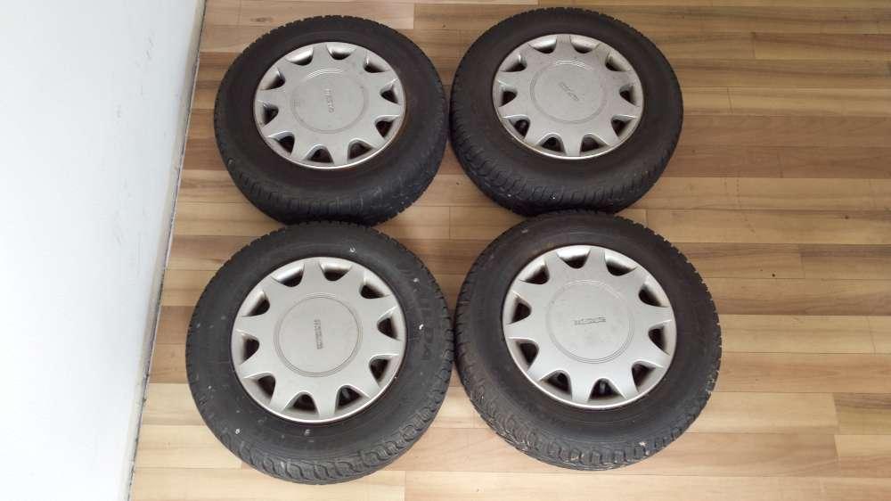 Kompletträder Winterreifen Mazda 323 BG 175/70 R13 82T Fulda ET45 mit Radkappen