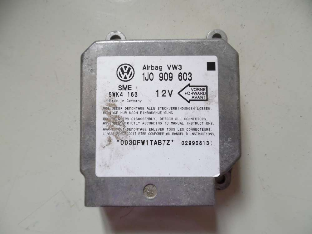 VW Golf 4 Airbagsteuergerät 1J0909603