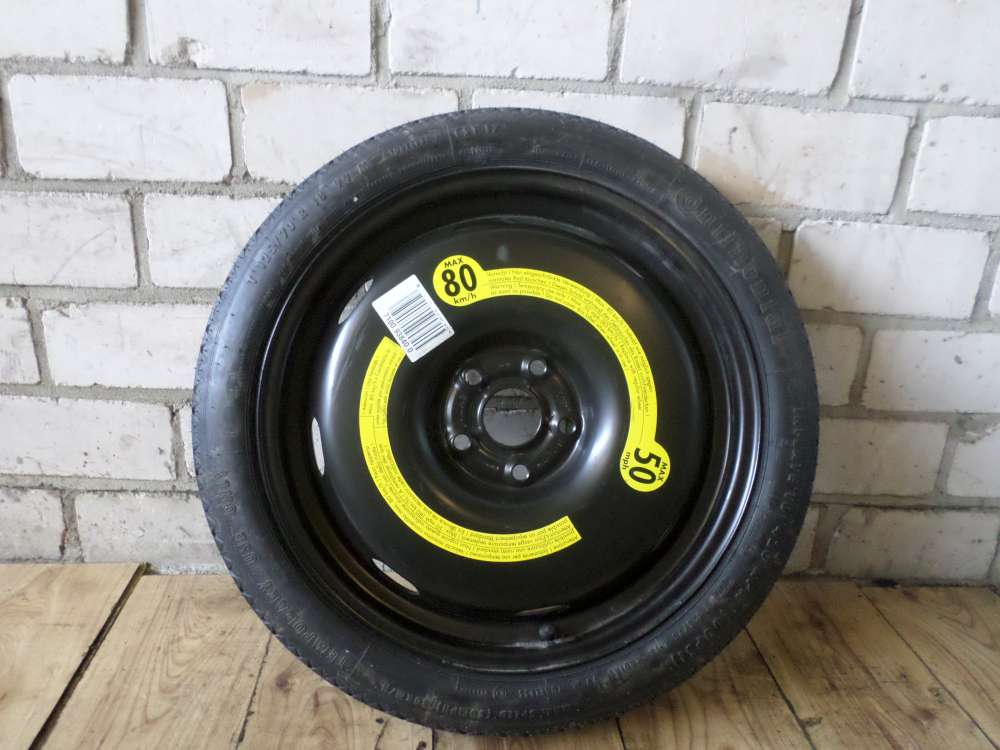 Audi A3  Ersatzrad Reserverad Notrad Spare Wheel 125/70 R18 3 1/2J x18 H2 ET25,5
