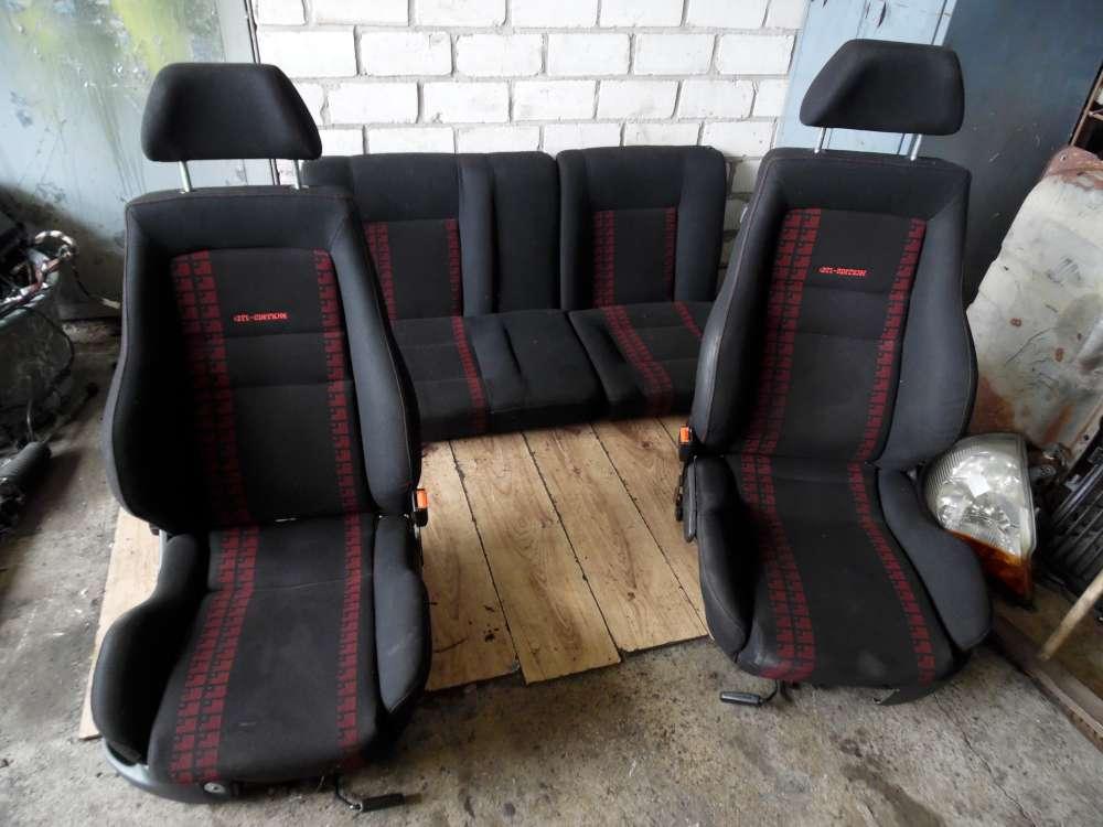 VW Golf 3 GTI Edition Recaro Sportsitze Schwarz Rot und Etienne Aigner Komplett Sitze usw.