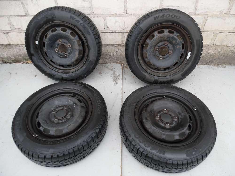4X Stahlfelgen 5,5Jx14, ET47,5 Mazda 2 DY Winterreifen 175/65R14 82T 5mm