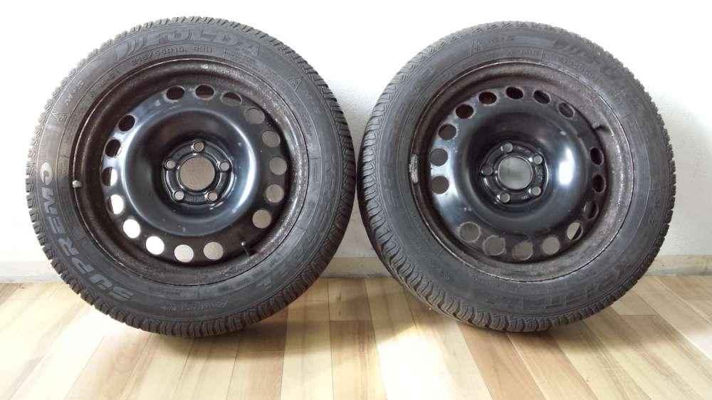 2 x  Winterreifen Stahlfelgen  Für Opel Vectra  C  6.5Jx16  ET : 41  215/55 R16 93H M+S