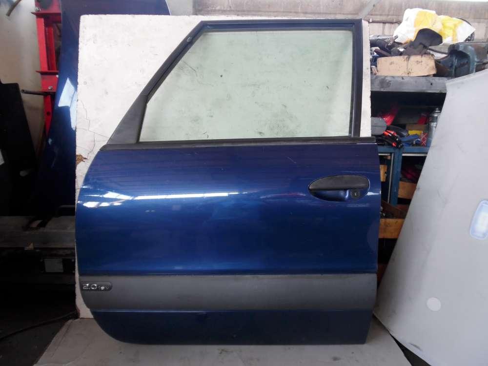 Renault Espace III JE Bj 2001 Tür Links Vorne Fahrertür Blau Farbcode: NV 432