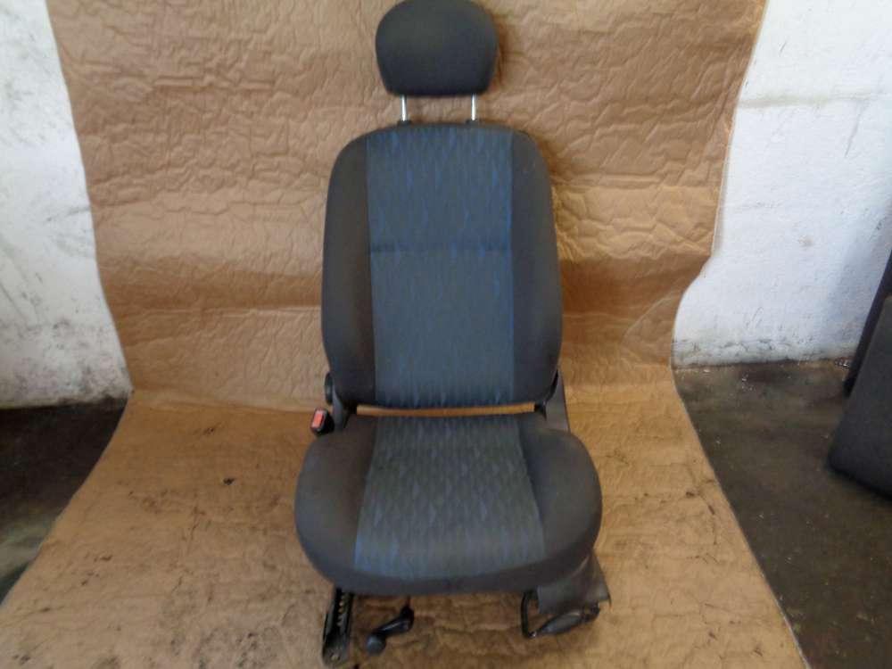 Ford Focus  limousine 3 Türer Bj:02 Sitz Fahrersitz Vorne Links mit Airbag Stoff Grau und dunkel Blau
