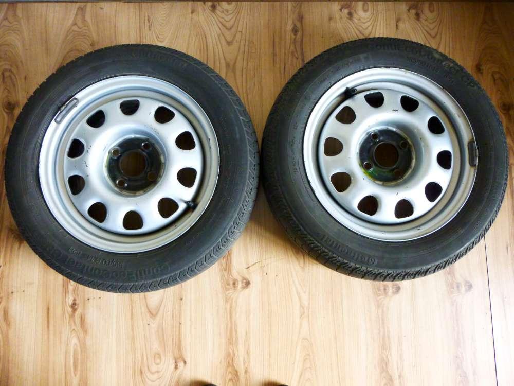 2x Sommerreifen Stahlfelgen VW Golf 3 185/60 R14 82H 6Jx14H2 ET: 45 1H06011025P