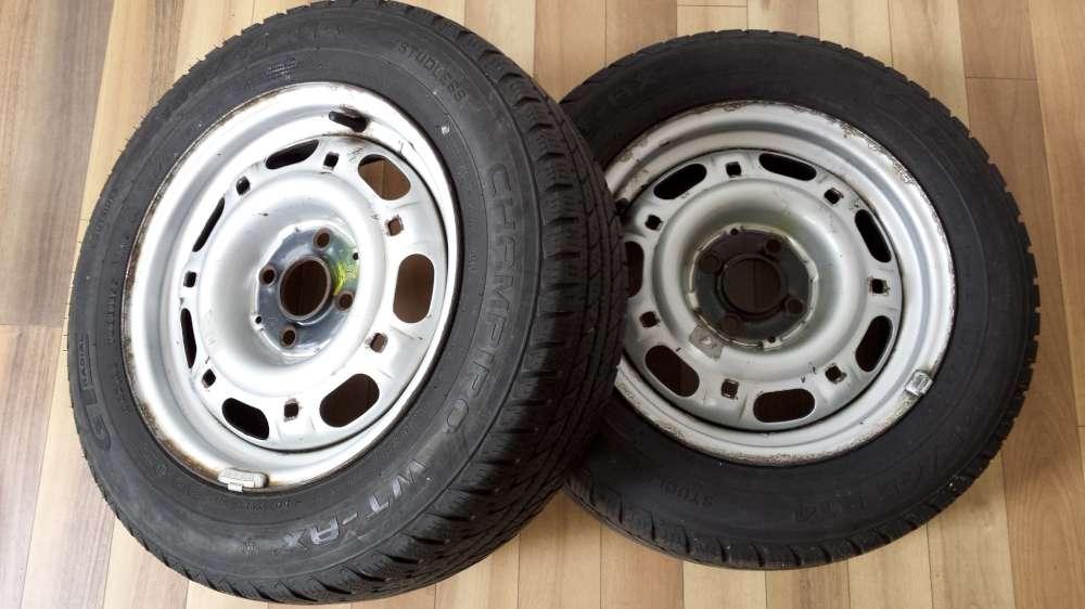 2x Stahlfelgen Winterreifen VW Passat 185/65 R14 86H  6Jx14H2 ET:38 Champiro M+S