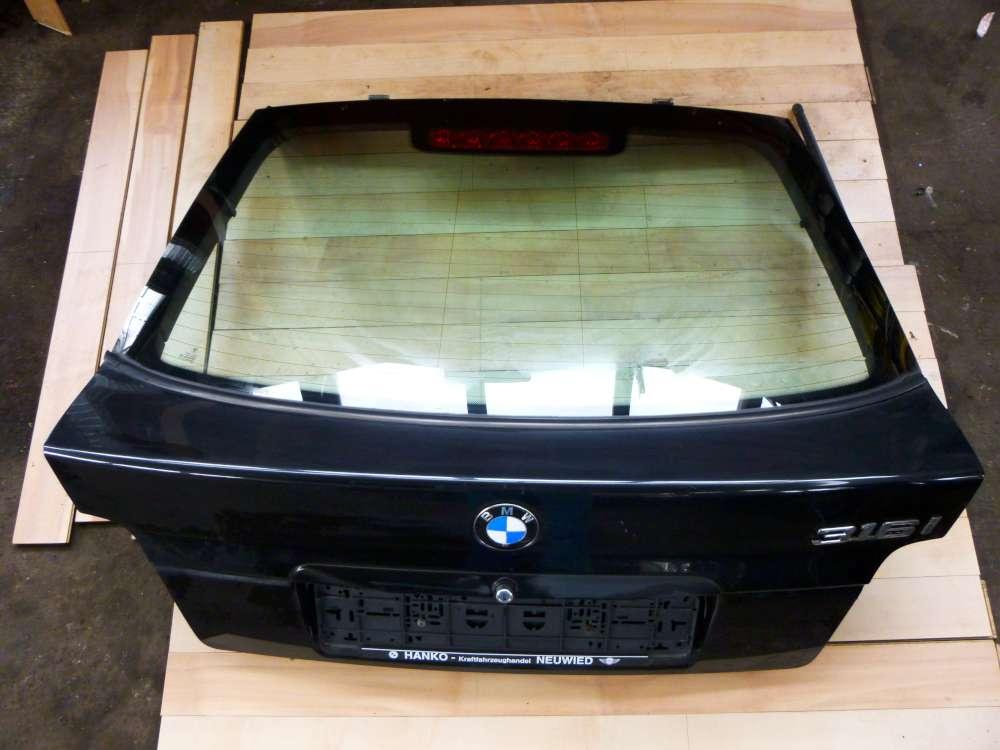 BMW 316i E36  3er Heckklappe Hecktür Schwarz Cosmosschwarz metallic 303/9