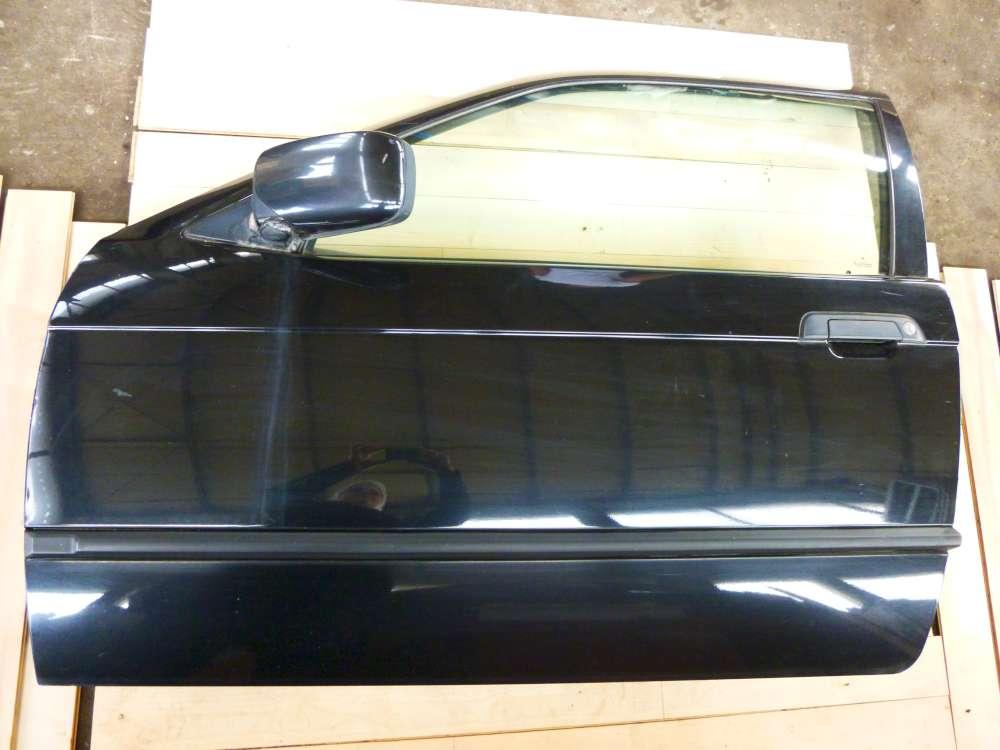 BMW 316i 3er 3-türig Compact Tür vorne Links Cosmosschwarz metallic 303/9