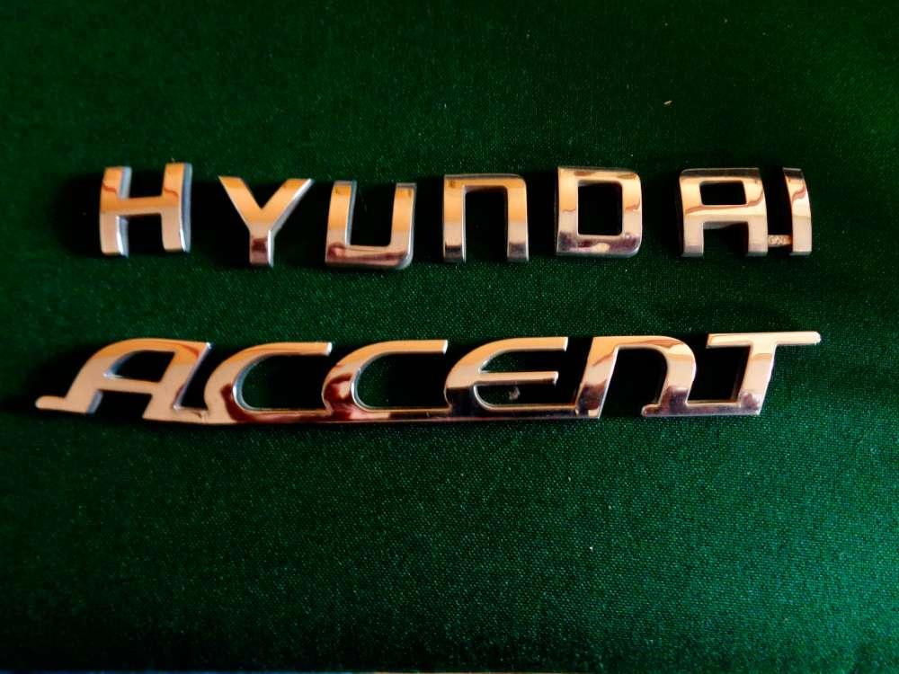 Hyundai Accent MC Bj:07 Schriftzug Emblem badge emblem Auf Heckklappe