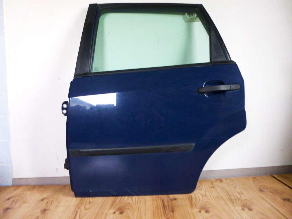 FORD FIESTA Tür links Hinten für 2002 bis 2008 blau Farbcode Torinblau