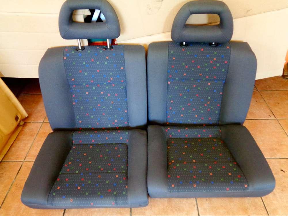 Seat Arosa 6H Bj:2000 3 Türer Sitze Hinten Rückbank Rücksitzbank Stoff