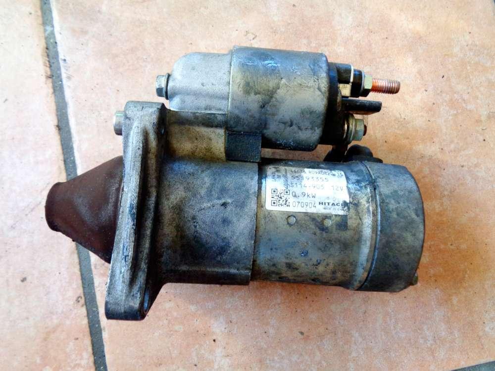 Fiat Panda 169 1,2 L Bj:2007 Anlasser Starter 55193355