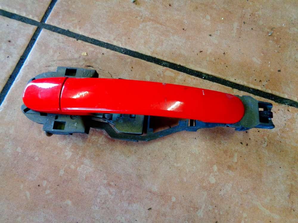 Seat Leon 1M Bj 2001 Türaussengriff Außen Griff  Hinten Rechts Rot Farbcode: LP3G