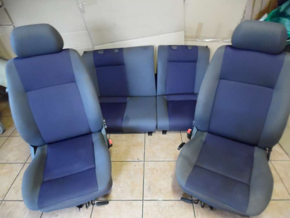 Seat Ibiza 6K Bj:2001 Sitze Komplett Stoff Grau und Blau Sitze