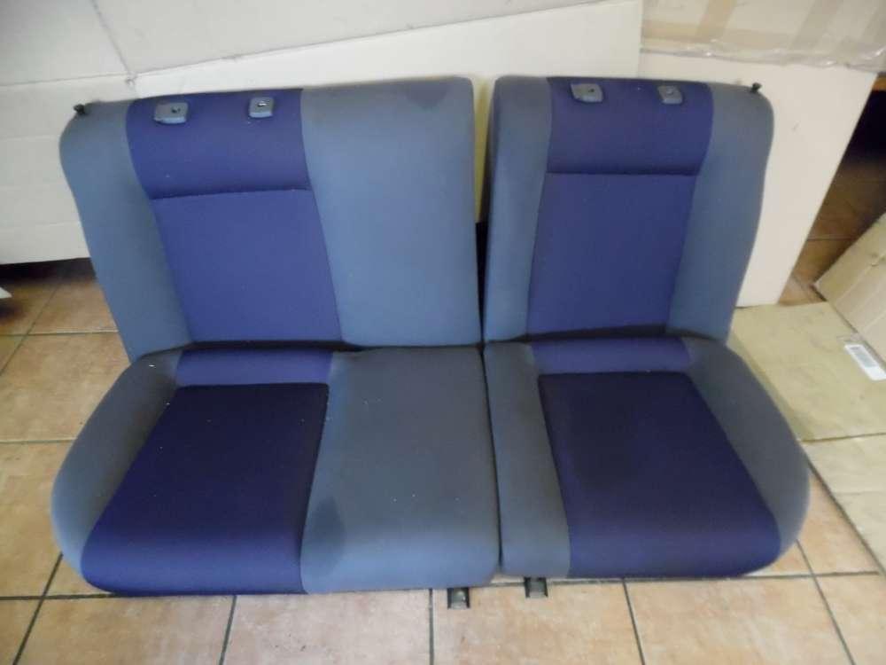 Seat Ibiza 6K Bj:2001 Rücksitzbank Rückbank Stoff Grau und Blau Sitze