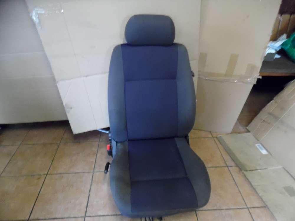 Seat Ibiza 6K Bj:2001 Fahrersitz Sitz Vorne Links  Stoff Grau und Blau Sitze
