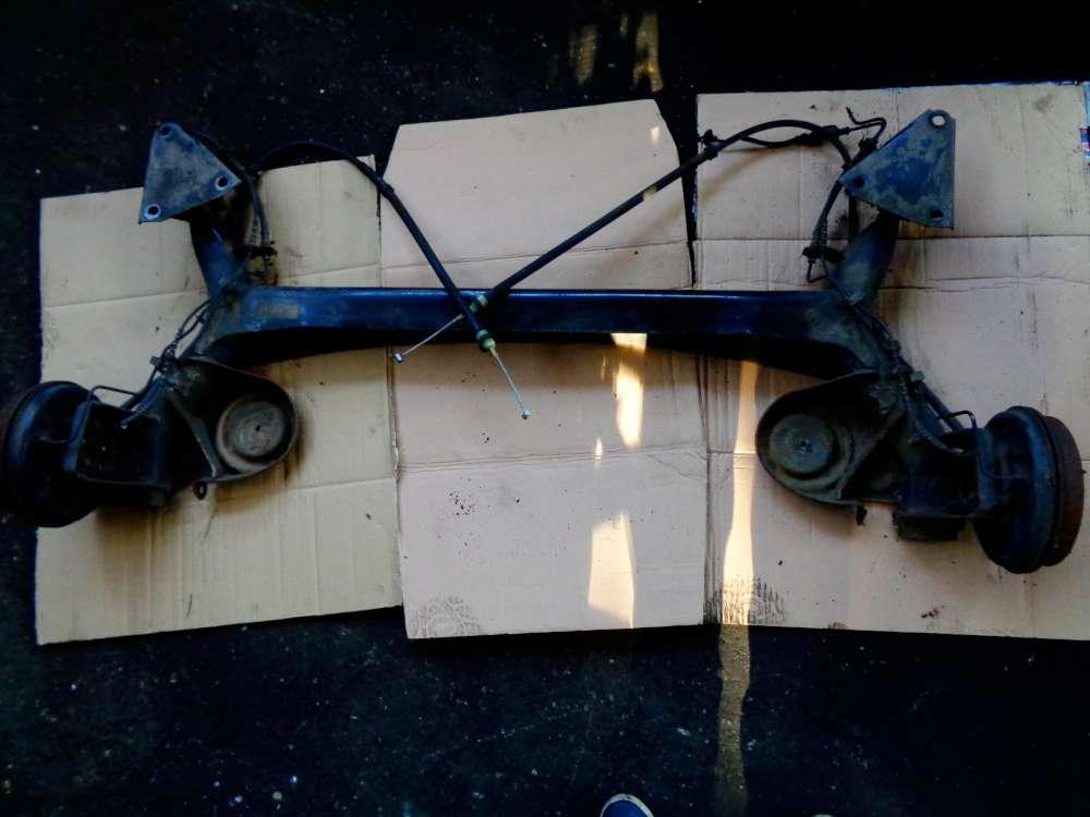Fiat Panda 169 1,2 L Bj:2007 Hinterachse Achsträger Hinten mit Kabel 51708686