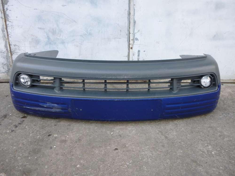 Seat Arosa Bj 2000 Stoßstange Stoßfänger  hinten  6H0807221 / 6H0805903 Blau LS5N