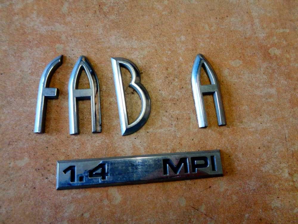 Skoda Fabia 6Y2 Limousine Bj:2002 Emblem Hinten