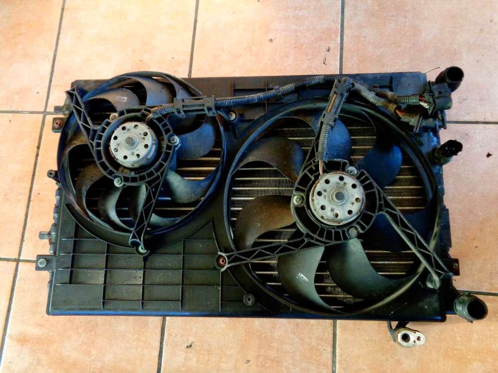 Skoda Fabia 6Y2 Bj:2003 Elektrolüfter Kühlerlüfter Wasserkühler mit Klimaanlage 6Q0820411 6Q0121207A