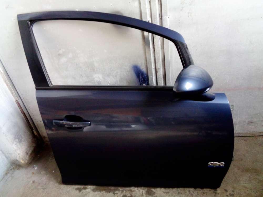 Opel Corsa D Bj:2008 5 Türer Tür Beifahrertür Vorne Rechts Farbecode: Blau Metro Z168