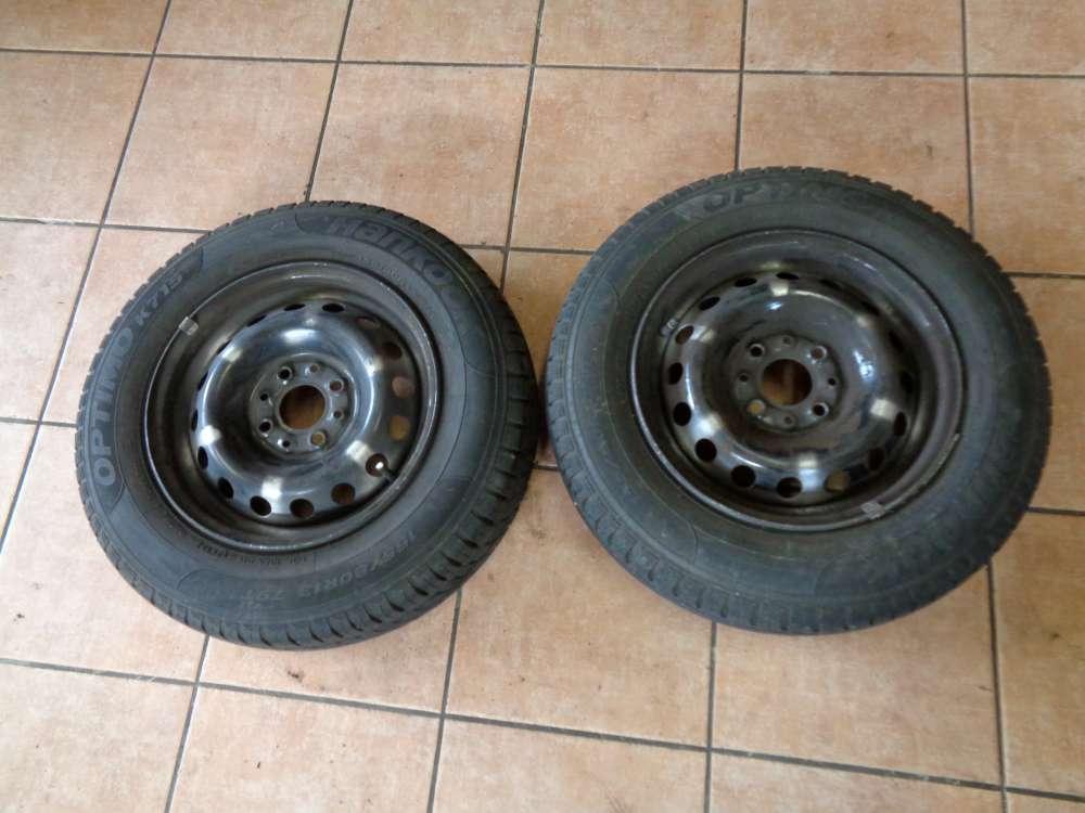 2X Stahlfelgen mit Reifen Sommerreifen 155 / 80 R13 79T  2707 ET35