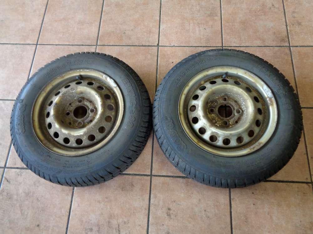 2X Stahlfelgen mit reifen Sava Eskimo S2 für Seat Ibiza 155/80 R13 79Q M+S /5Jx13 H2 ET38  Winterreifen