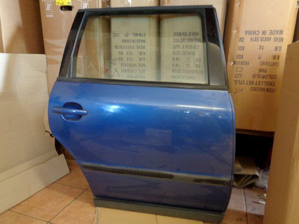 VW Passat 3B Kombi Bj:1997 Tür Hinten Rechts hallblau Farbcode : LR5U