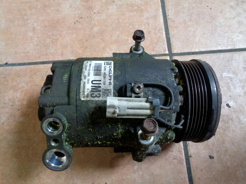 Opel Astra H 1.7 CDTI Bj:2008 Klimaanlagen Kompressor Pumpe 401351739 13286086