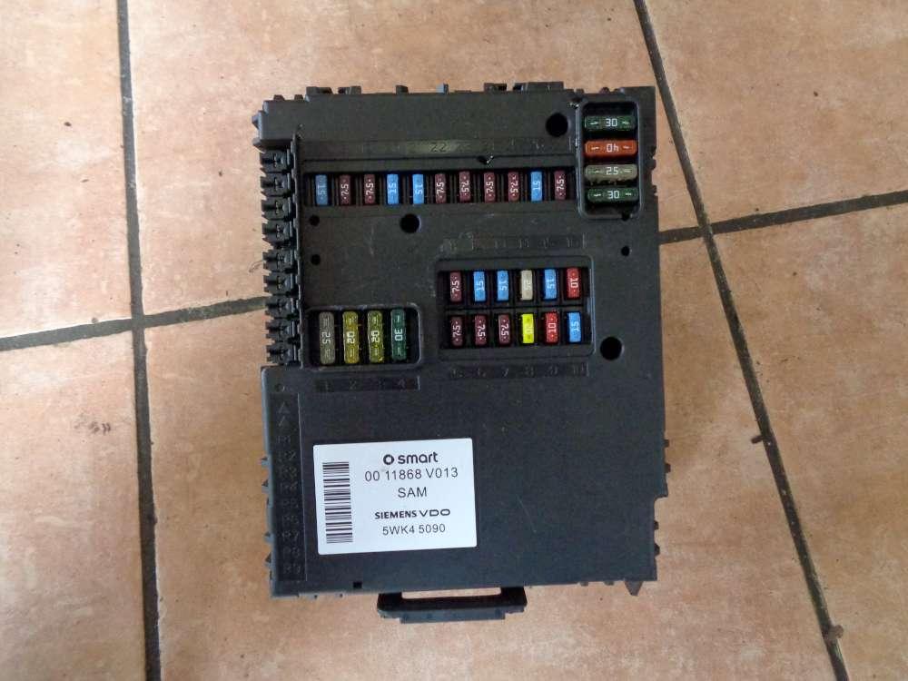 SMART Fortwo Bj:06 Steuereinheit Zentralelektrik Steuergerät 0011868V013 SAM