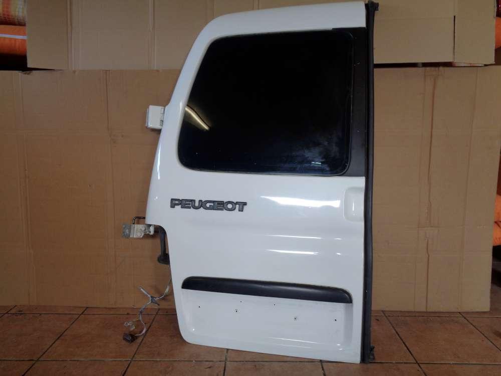 Peugeot Partner Bj 2001 Hecktür Heckflügeltür Tür Links Farbe: Weiß