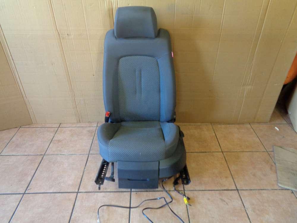 Seat Altea 5P Bj:2007 Fahrersitz Sitz Vorne Links mit Leitungssatz Kabelbaum 1K0971391 grau Stoff