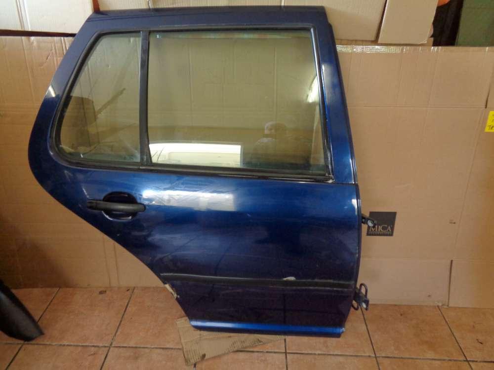 VW Golf 4 Bj 98 Limousine 5 Türer Tür Hinten Rechts Indigoblau LB5N