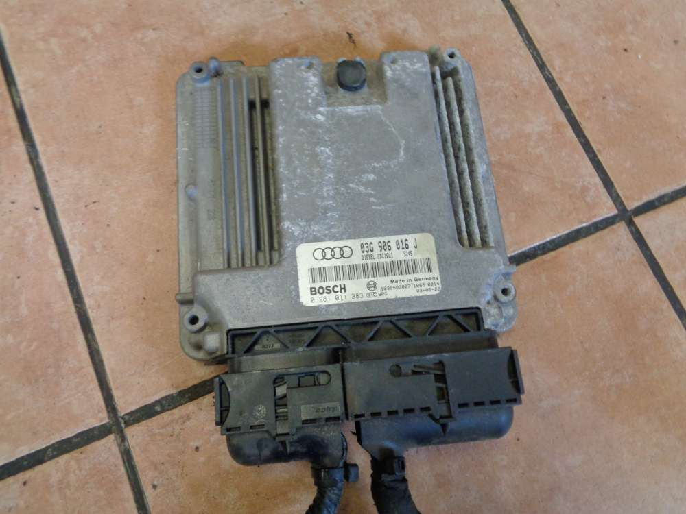 Audi A3 8P Bj:2003 Motor Steuergerät 03G906016J