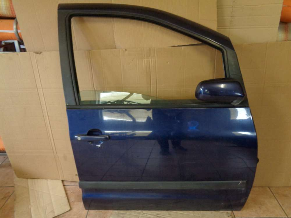VW Sharan Bj 2003 7M Tür Vorne Rechts Beifahrertür Blau Farbcode : LB5N