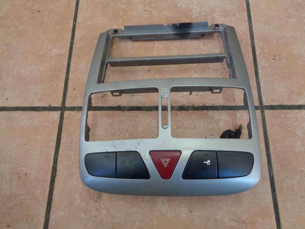 Peugeot 307 Armaturenverkleidung Bedienteil Blende Warnblinklicht 9634505077