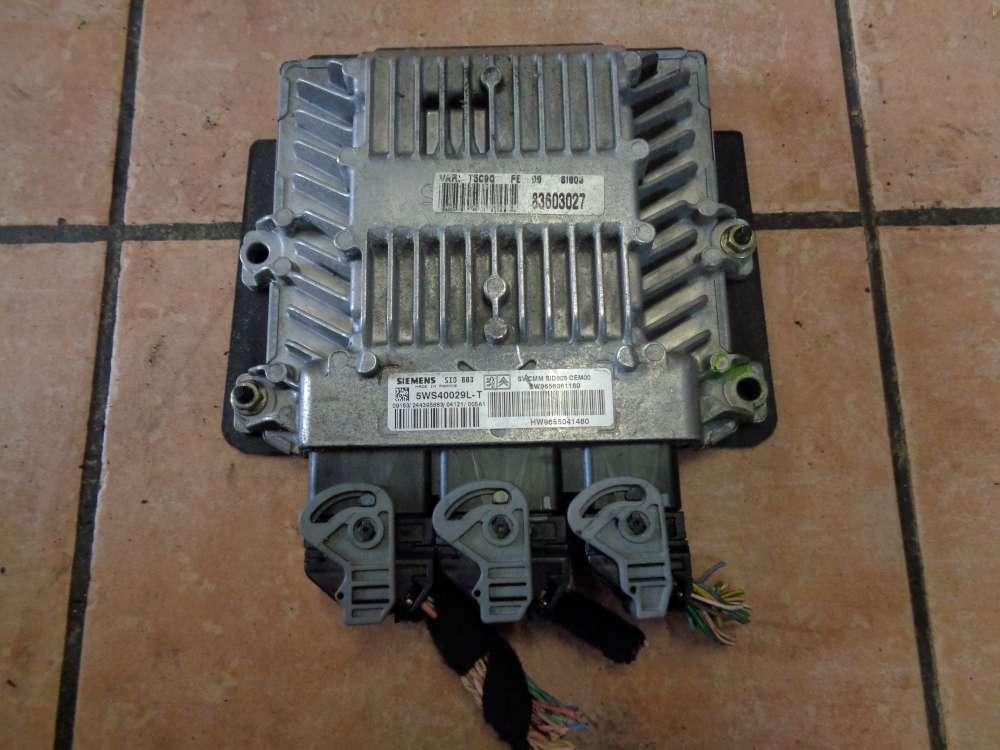 Peugeot 307 Bj.2004 Motorsteuergerät SIEMENS 5WS40029LT  9656061180