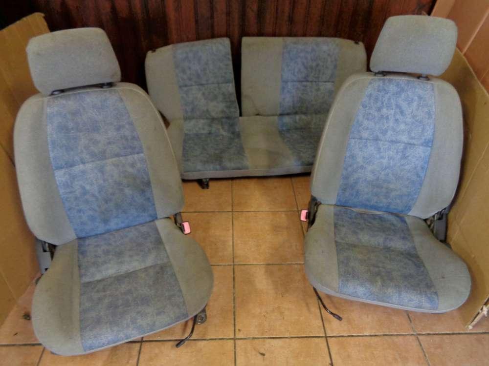 Toyota Starlet Sitze Innenausstattung Komplett Blau / Grau Stoff