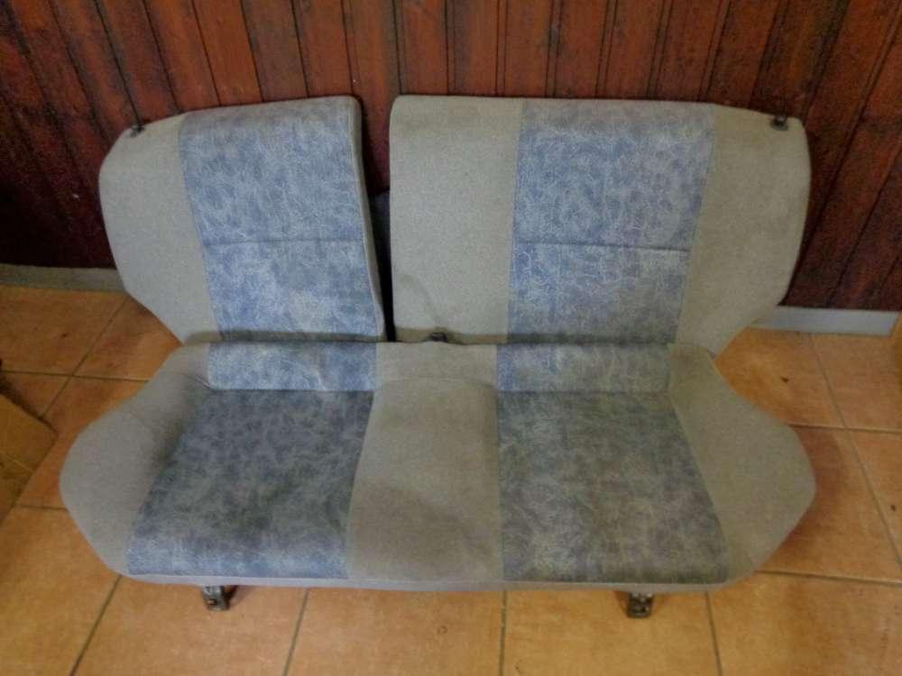 Toyota Starlet Sitze Rücksitz Rückbank Blau / Grau Stoff