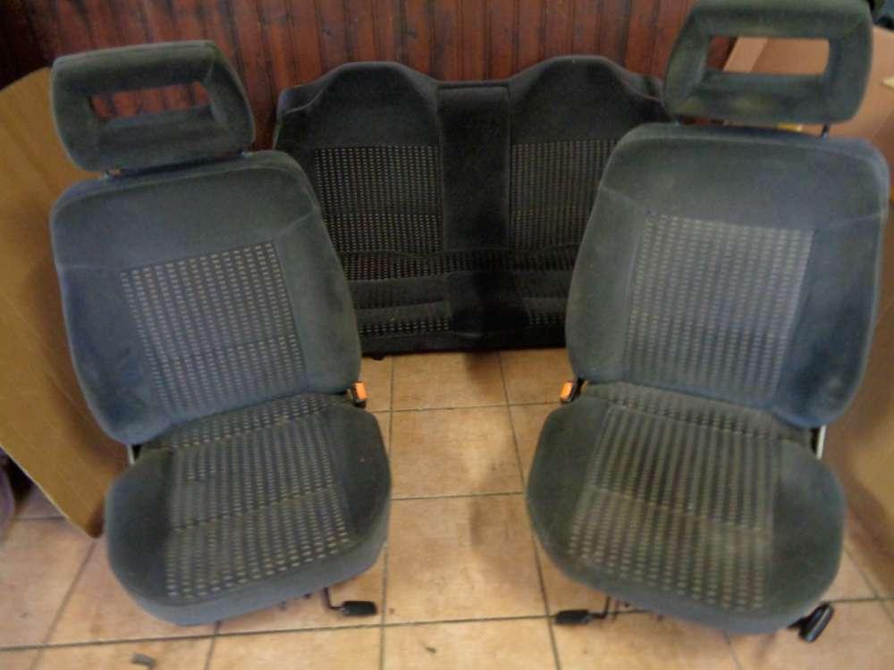 Audi 80 Lomousine Sitze Innenausstattung Komplett Grau Stoff