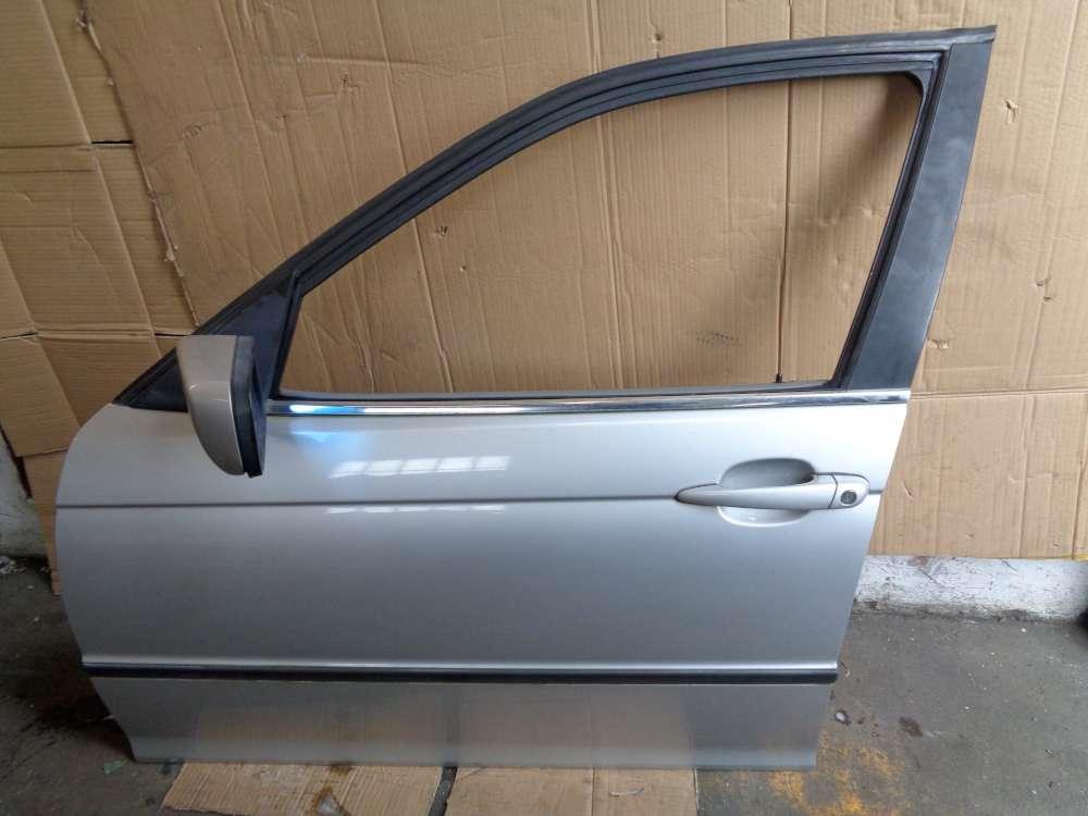 BMW 3er 320i  E46 Tür Vorne Links silber Farbecod:354