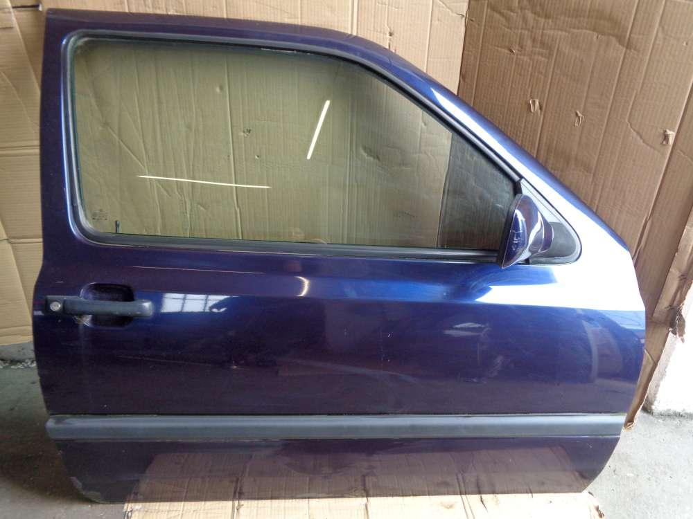 VW Golf III Bj:1997 3Türer Tür Vorne Rechts Beifahrertür Blau Farbcode: LC5L