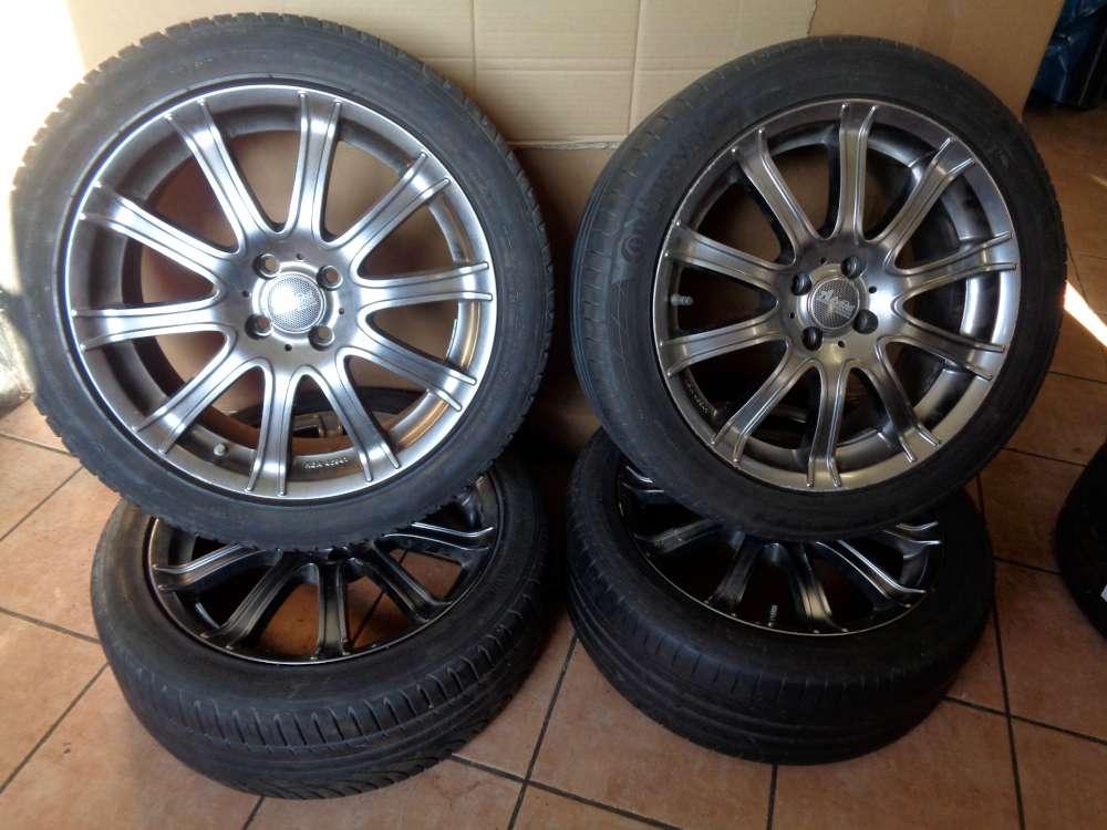 4 x Alufelgen mit Reifen Sommerreifen  2x Michelin  / 2x 225/45R17 91W  7J x 17   4x100  KBA 46941