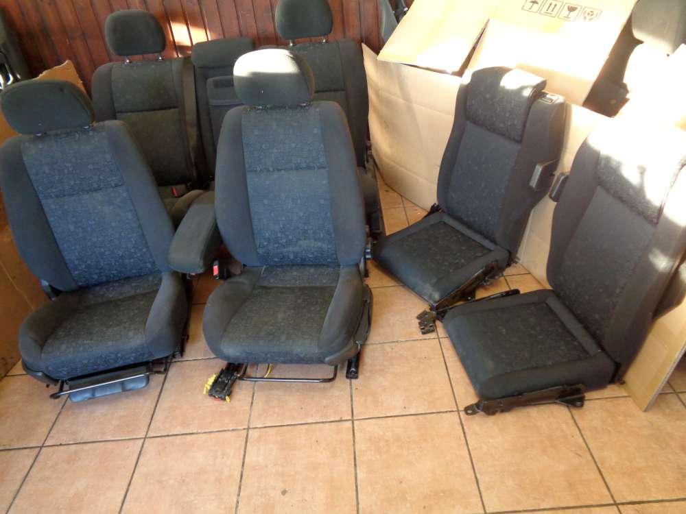 Opel Zafira A Sitze Innenausstattung Komplett Stoff Schwarz