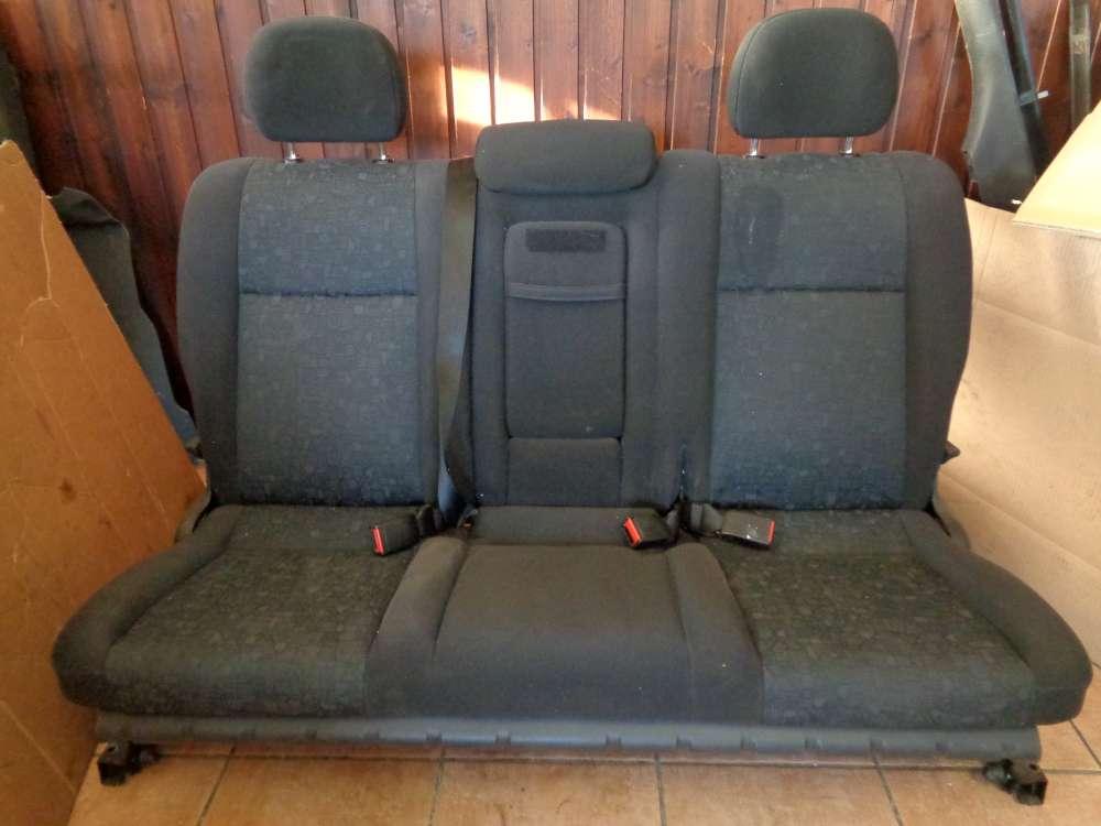 Opel Zafira A Sitze Sitzbank Rücksitzbank Stoff Schwarz