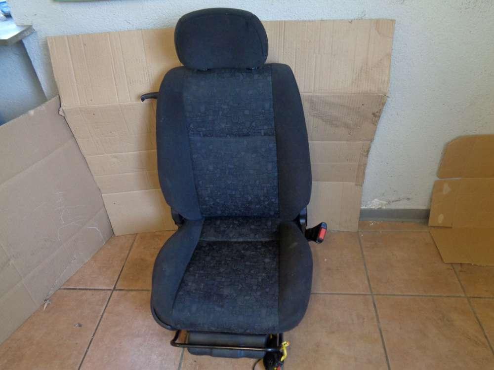 Opel Zafira A Sitz Beifahrersitz Vorne Rechts Stoff Schwarz