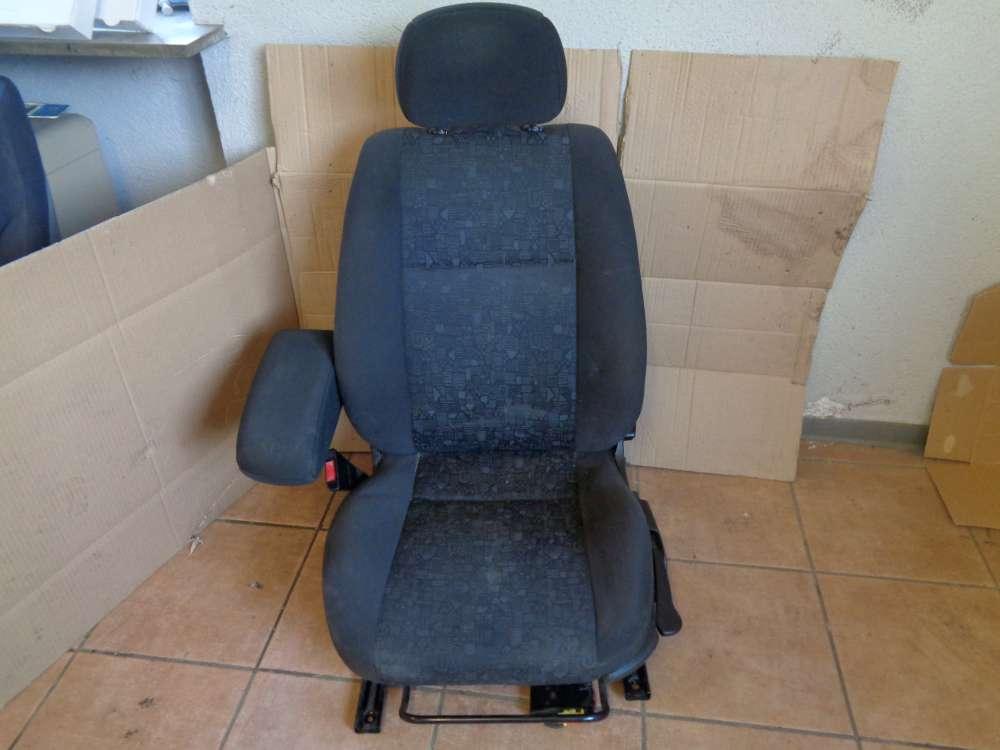 Opel Zafira A Sitz Fahrersitz Vorne Links Stoff Schwarz