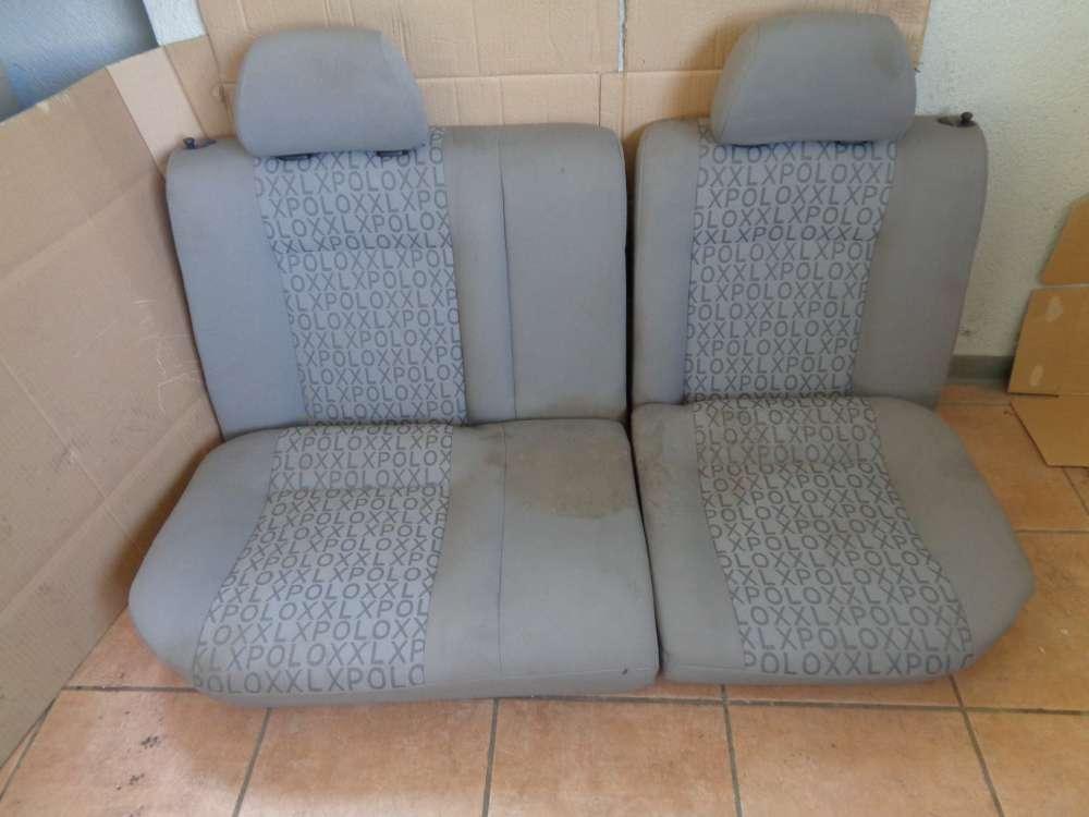 VW Polo 6N Sitze Rücksitz Rückbank grau Stoff